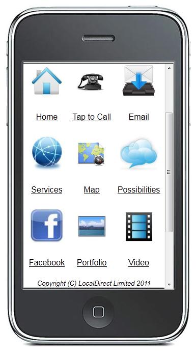 localdirect mobile website